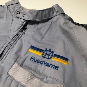 Vintage 80s Huqsvarna Light Jacket Motorcycle